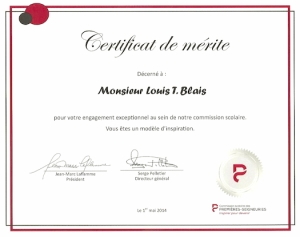Le certificat !