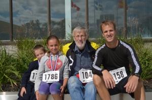 3 générations de course à pied