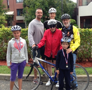 4 générations à vélo